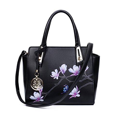 stampa bag/Retrò fiore peonia Pack/Borsa a tracolla/Ali di Magnolia-D D
