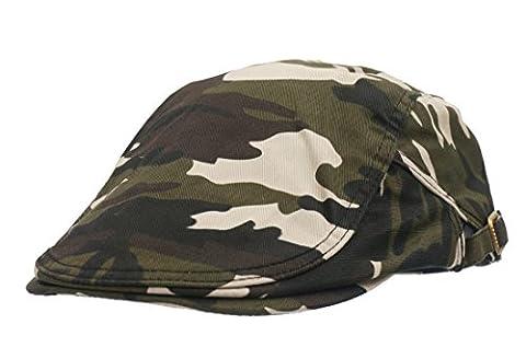 Roffatide Camouflage Schirmmütze Schiebermütze für Herren und Damen Flatcaps Newsboy