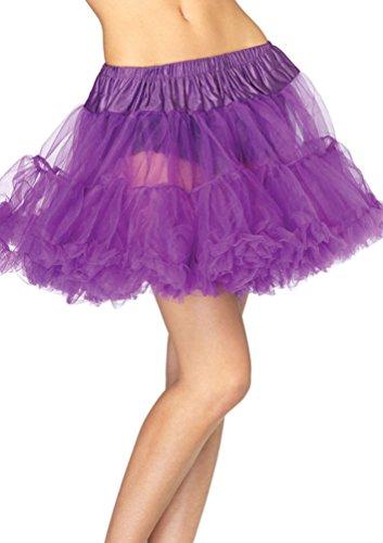 Karneval-Klamotten Petticoat Unterrock Tutu Tüll-Rock Damen Flieder Luxus Damen-Kostüm Karneval Einheitsgröße