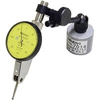Mitutoyo MT 513-908 indicatore MINI, con supporto e chiusura magnetica, DIA. stelo 8 mm, quadrante, colore: giallo, 0-40-0 leggere, 40 mm DIA. analogico, 0,8 mm, serie mesi, graduazione 0,01 mm, precisione/- 0,008 mm - Serie 908