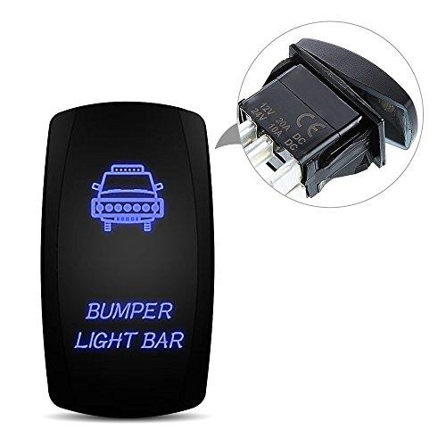 Wasserdicht Blaue Led Licht Ein/Aus Kippschalter Wippschalter Schalter 48W 300W Led Beleuchtet Nebelscheinwerfer Arbeitsscheinwerfer Scheinwerfer Bar Auto KFZ Offroad PKW Traktor (Golf-cart-beleuchtung)
