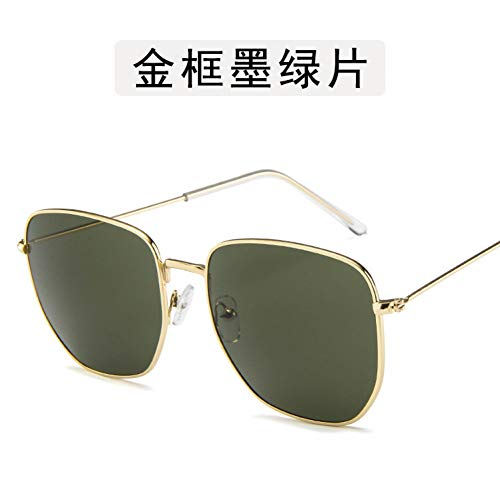 ZYG999 Vintage Gold Frame Übergroße Brille Männlich Weiblich Quadrat Optische Linse Brille Nerd Transparente Linse Brillengestell