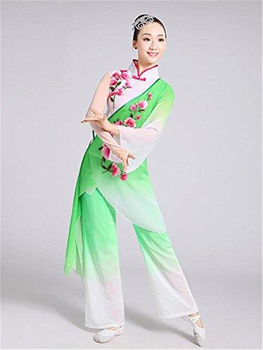 Frau klassische Volkstanz Performance Kostüm / traditionelle Tanz Bühnenshow / Tops und Hosen , s , green