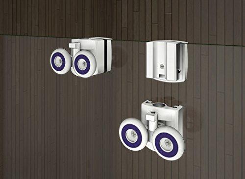 100 x 185 cm Nischentür Duschtür Schiebetür Duschabtrennung Duschwand aus 6mm ESG Sicherheitsglas Klarglas ohne Duschtasse - 8