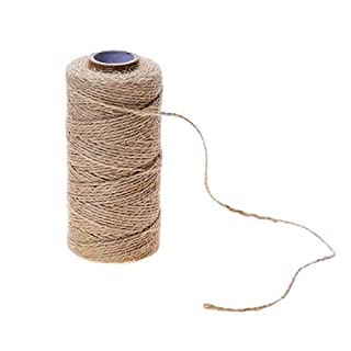 One Hundred Meters Natural Jute Twine Burlap String DIY Hemp Rope Wedding Gift Wrapping Cords Thread