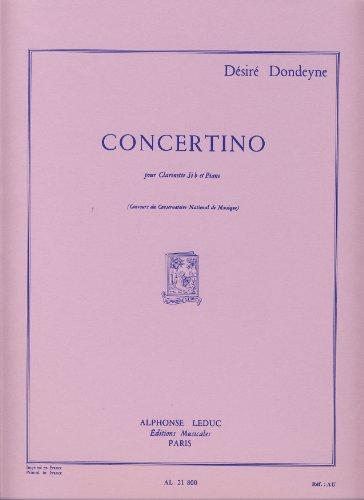 CONCERTINO CLARINETTE SIB ET PIANO