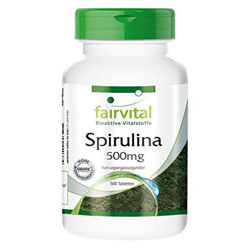Spirulina Tabletten 500mg - HOCHDOSIERT - VEGAN - 500 Tabletten - Spirulina platensis - ohne Zusatzstoffe -