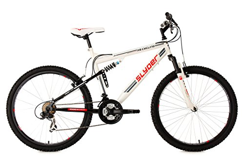 KS CYCLING FULLY SLYDER RH   BICICLETA DE MONTAÑA  COLOR BLANCO / NEGRO  TALLA L (173 182 CM)  RUEDAS 26  CUADRO 51 CM