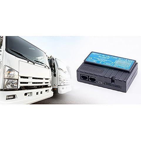 GPS Fahrzeug-Ortungsgerät Fleet-10 GPS für PKW, LKW, Firmenfuhrparks mit GPS/Glonass/Galileo-Antennen (12/24 Volt) für die GPS Fleet Software mit GPS Fahrspur, Fahrtenbuch, Berichten, Alarmierung