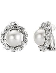 Yoursfs Natural de la perla de agua dulce de flores pendientes para las mujeres chapado en oro tornillo de diente de sierra