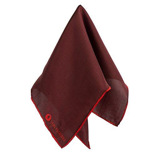 Handrolliertes Einstecktücher 100% Seide – 30x30cm – Bordeauxrot Rot – Für Anzug und Business – Hochwertige Herren Pochette/Kavalierstuch by VON FLOERKE (Krawatte Verschönert)