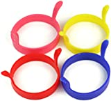 RHX 4pcs Kitchen Cooking Silicone Fried Oven Poacher Pancake Egg Poach Ring Mould