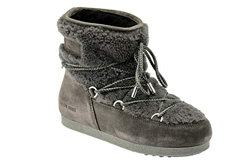 b24ad52b69a4 Moon Boot Womens Tecnica Far Side Low Shearling Faux Fur Warm Ankle Boots -  Anthracite -