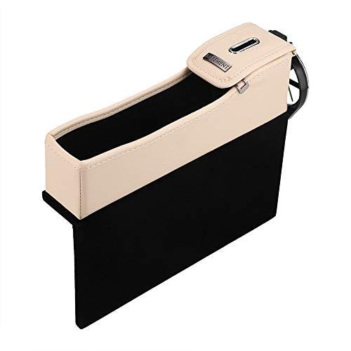 governingsoldiers Fdit Autositzaufbewahrungsbehälter aus PU-Leder-Slot Gap Catin Münze Karte Clamp-Becherhalter Pocket-Organizer SocialMe-EU # 1 Black,# 1 Beige