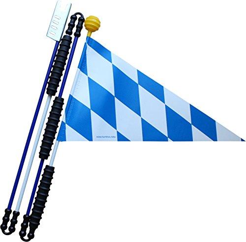 Karl Drais 160 cm Bayern Fahrrad Wimpel Bavaria (Sicherheitswimpel) | Langlebig und Stabil aus Heavy Duty LKW Plane | Jungen Fahrradwimpel (Fahrradfahne)