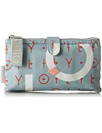 Oilily - Groovy Letters Cosmeticpouch Mhz, Organizadores de bolso Mujer, Azul (Light Blue), 4x12x23 cm (B x H T)