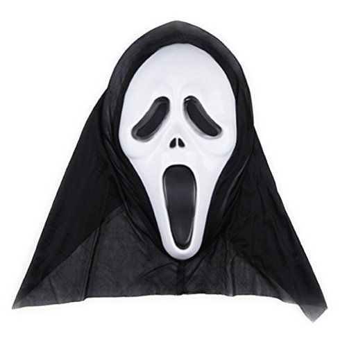 Tinksky Halloween Ghost Mask Scream Costume Party Mask Creepy Scary Ghosts Masks for halloween horror nights 1 PCS (Screaming Image)  available at amazon for Rs.1424