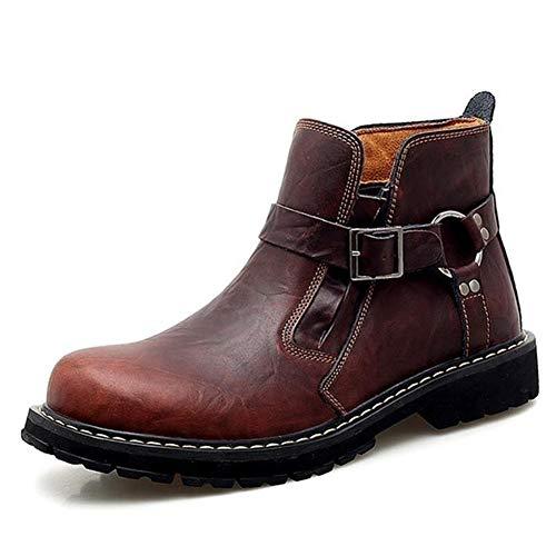 DYHM uomo stivali Stivali di pelle di mucca Martin stivali autunno e gli uomini di inverno degli uomini di scarpe di moda moto stivali comodi Stivaletti Casual Shoes #K899