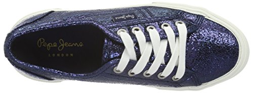 Pepe Jeans Damen Aberlady Crackle Sneakers Blau (NAVY 595)