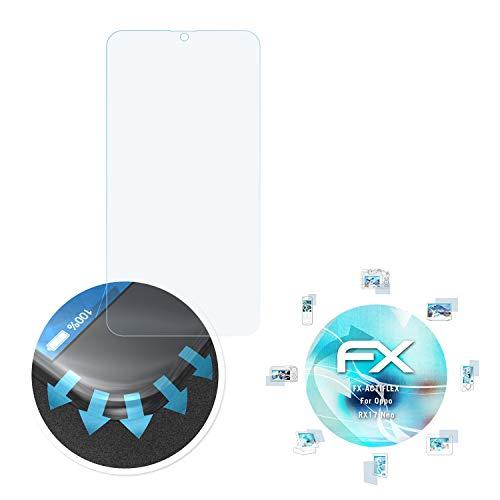 atFolix Schutzfolie passend für Oppo RX17 Neo Folie, ultraklare & Flexible FX Bildschirmschutzfolie (3X)