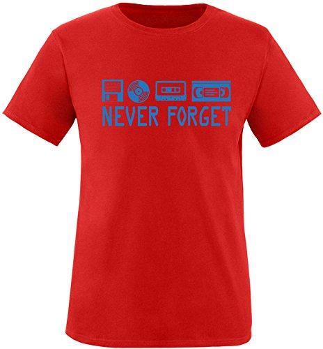 EZYshirt® Ich Irre ? Vielleicht sollte ich mal von meinem Einhorn steigen und dir eine knallen Crew-Neck T-Shirt Rot/Blau