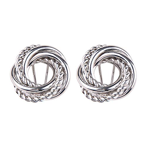 Daawqee Pendientes Para Mujer, Metal Gold Silver Stud Earring For Women Hot Sale Vintage Trendy Punk Statement Luxury Party Gift Earrings Silver Color9