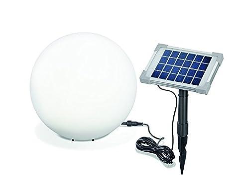 Solar Leuchtkugel Mega Ball 30cm, hochwertige PE Kugel, Dauer- oder Wechsellicht, 8 Lichtfarben inkl. warm- und kaltweiß,