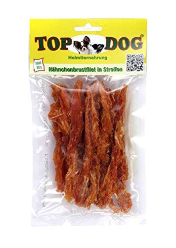Top Dog Hähnchenbrustfilet - Hähnchenbrust - Huhn in Streifen 80g (100% Hähnchenbrust)