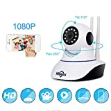 TYUE 1080P IP-Kamera, Wireless Home Security IP Camera, Surveillance Camera WiFi Night Vision Camera, Baby Monitor 1920 * 1080,1millionpixels