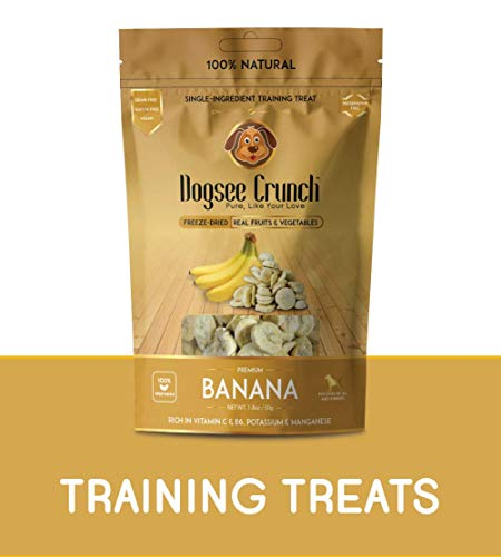 Dogsee Crunch Single-Ingredient Freeze-Dried Bananas Training Treats, 50 g