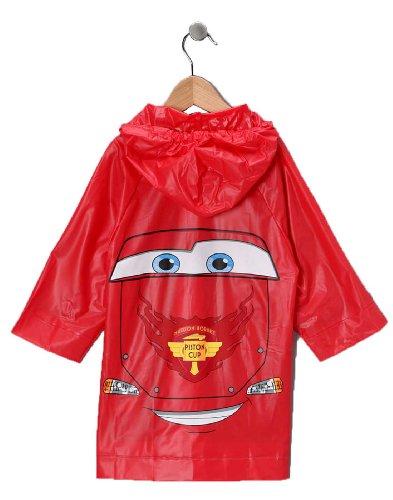 Image of Disney Pixar Cars Lightning Mcqueen Boy's Red Rain Slicker-Size 6-7 Years