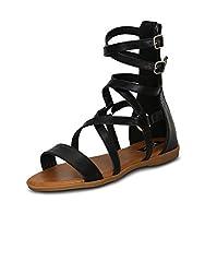 Kielz Womens Black Synthetic Shoes (12365-116) - 40 EU