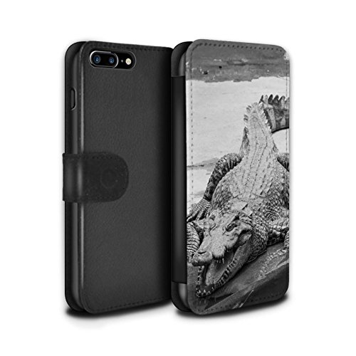 Stuff4 Coque/Etui/Housse Cuir PU Case/Cover pour Apple iPhone SE / Tortue Design / Animaux de zoo Collection Crocodile/Alligator