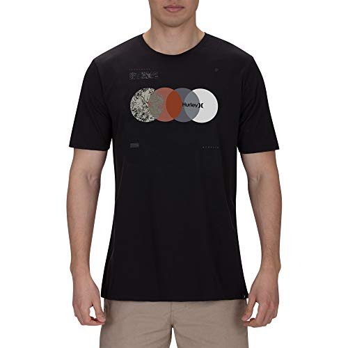 Hurley Premium Shifters Camiseta, Hombre, Negro (Black), M