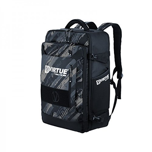 Virtue Paintball Rucksack Gambler Expanding Gear Backpack, Graphic Black (Paintball Rucksack)