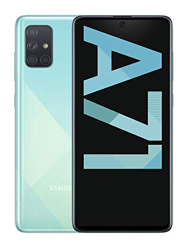 "Oferta de Samsung Galaxy A71 - Smartphone de 6.7"" FHD+ (4G, Dual SIM, 6 GB RAM, 128 GB ROM, Cámara Trasera 64.0 MP + 12.0 MP (UW) + 5.0 MP (Macro) + 5 MP, Cámara Frontal 32 MP) Color Azul []"