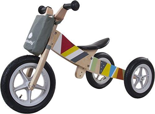Sun Baby e02.001.1.12-in-1-Dreirad aus Holz und Running Bike