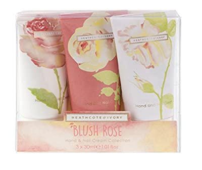 Heathcote & Ivory Blush Rose Hand and Nail Cream Collection 30 ml - Pack of 3