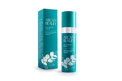 Argan Beauty - Crema De Aceite De Argán Antienvejecimiento 50Ml Con Omega 3, 6 Y 7, Vitaminas B, C, E Y Ácido Palmitoleico.