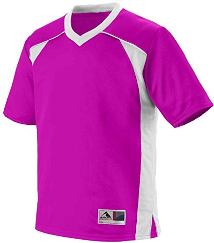 Augusta Herren T-Shirt POWER PINK/WHITE