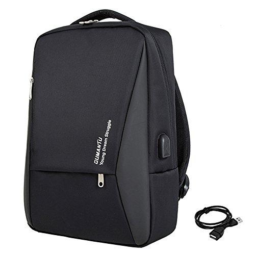 Pour Imperméable Dos Pouces Avec Sac Ld Noir À Chargement Backpack Mode OrdinateurBusiness 14 Femme Pc Usb 15 Léger LA4j35Rq