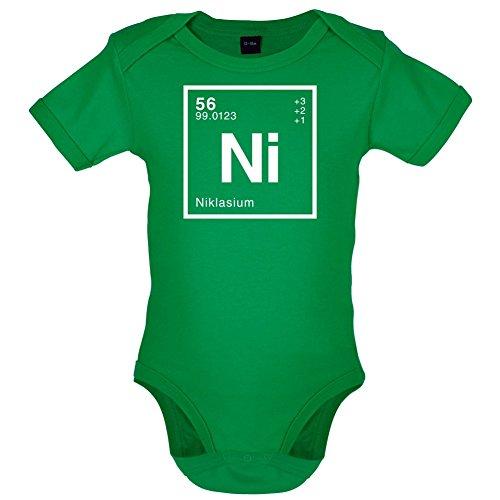 Dressdown Niklas Periodensystem - Lustiger Baby-Body - Leuchtend Grün - 3 bis 6 Monate (Geeky Für Mädchen Geschenke)