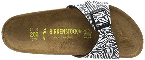 Birkenstock Madrid, Mules mixte enfant Noir (Zébra Black)