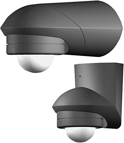 Grothe 5167043 Bewegungsmelder Grad 230 V, Aufputz, IP55, Mc Guard Pro BM 240 sw, Schwarz