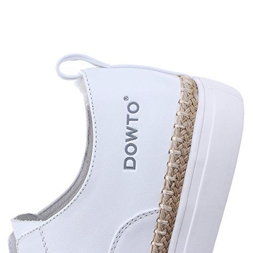 aijiaer Femme Mocassins. Plat Décontracté Confort avec le travail de bureau école classique Pompes Chaussures Blanc - blanc