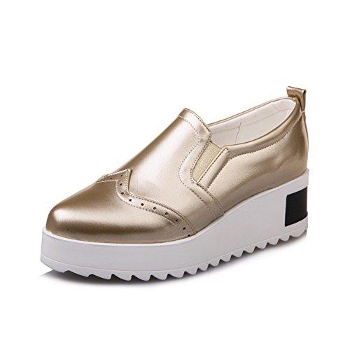 chaussures de femmes coréennes au printemps/Joker chaussures plate-forme pointu paresseux/Chaussures noirs A