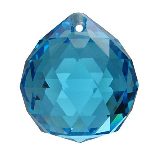 Boule de cristal turquoise (k9) diamètre 30mm