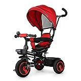 Fascol 6 in 1 Triciclo per Bambini con Sedile Girevole Adatto per età...