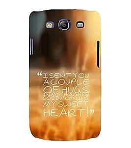 EPICCASE Lovely wake up Mobile Back Case Cover For Samsung Galaxy S3 (Designer Case)
