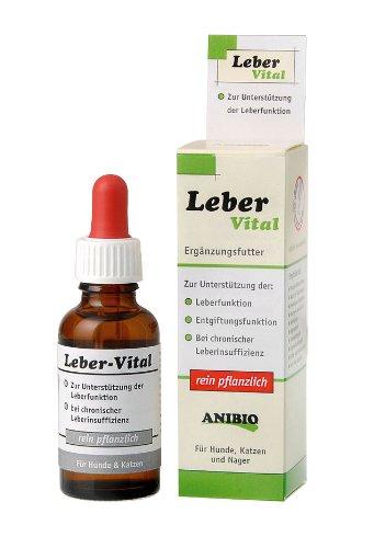 Anibio Leber-Vital 30 ml (Tropfen) Ergänzungsfutter für Hunde und Katzen, 1er Pack (1 x 0.03 l)